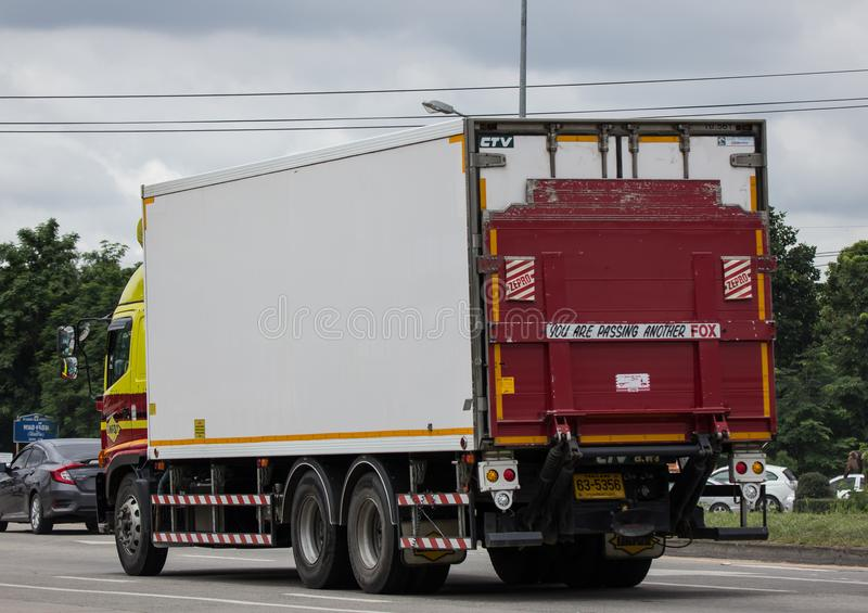 Linfox Truck and Container For Tesco lotus hypermarket royalty free stock photography