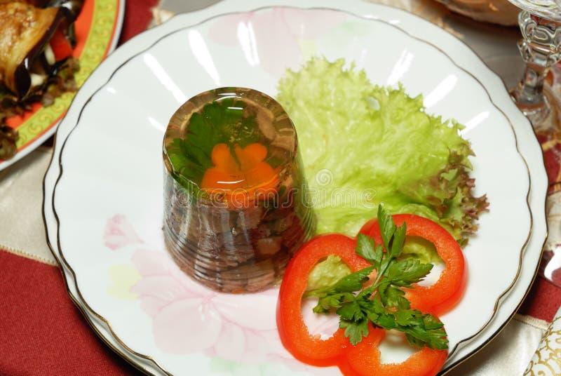 Lingüeta de carne Jellied imagens de stock
