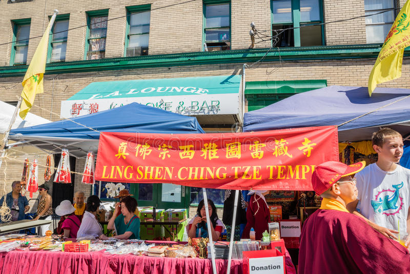 Ling Shen Ching Tze Temple-cabinechinatown Seattle royalty-vrije stock foto