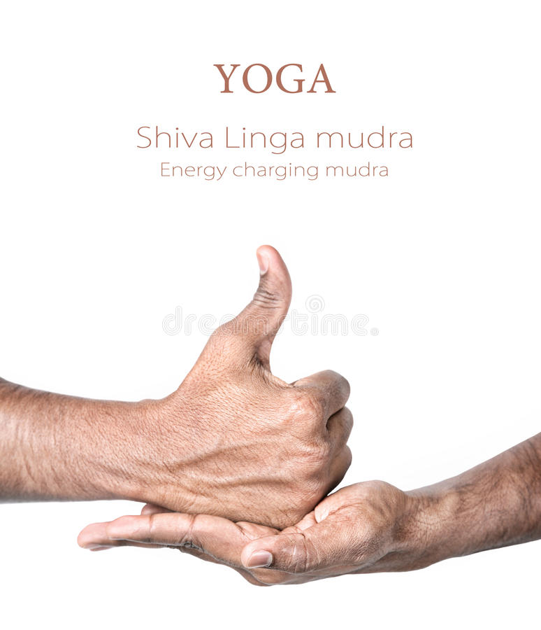 linga mudra shiva joga obrazy stock