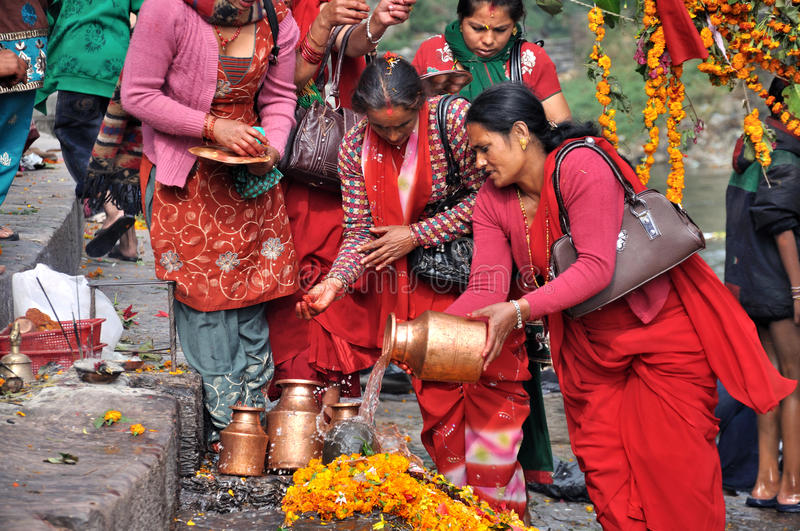 Lingam Worship. In Pashupatinath temple which served as the seat of the national deity, Lord Pashupatinath in Nepal royalty free stock images