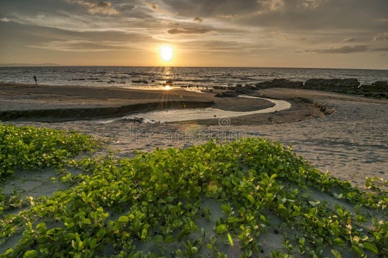 Lingayen sunset. Sunset along the gulf of Lingayen in the province of Pangasinan, Philippines stock images