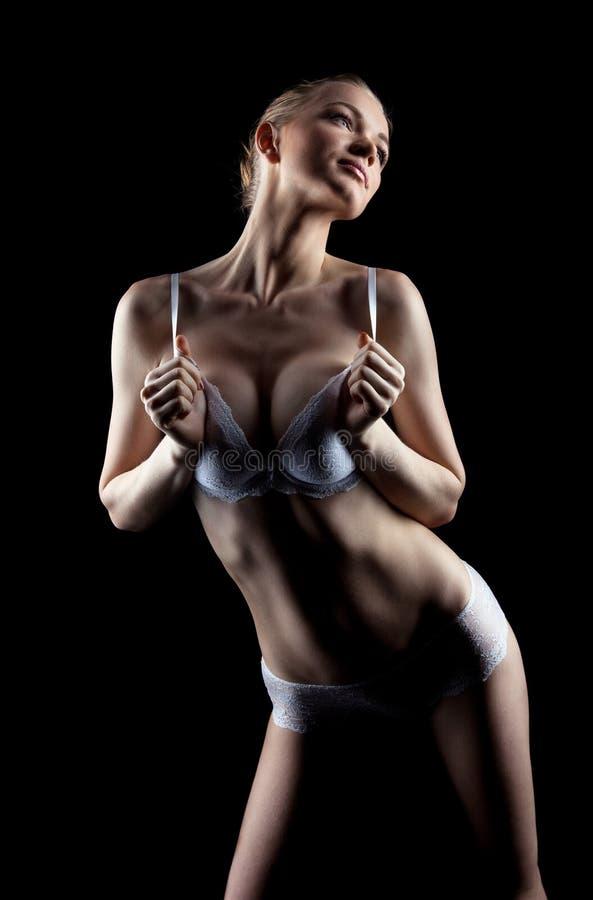 Download Lingerie ομορφιάς τέλεια λευκή γυναίκα Στοκ Εικόνα - εικόνα από ισχίο, bellowing: 22791951