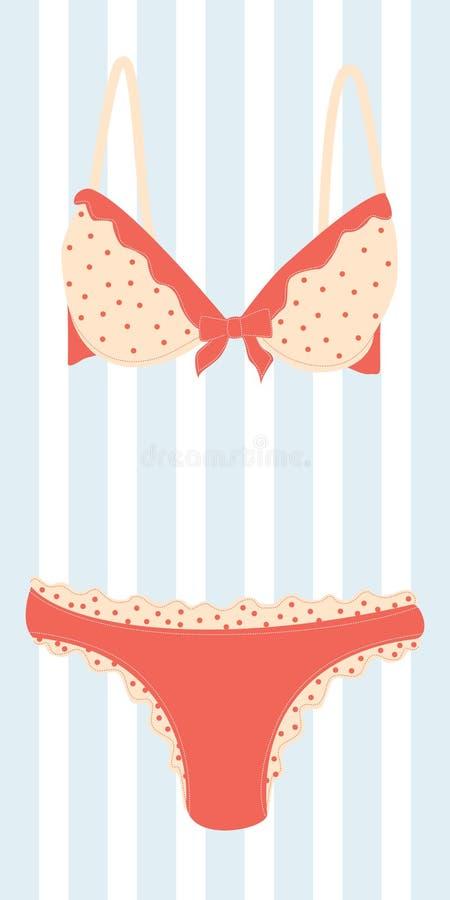 Download Lingerie stock vector. Image of flower, cream, glamour - 19045465