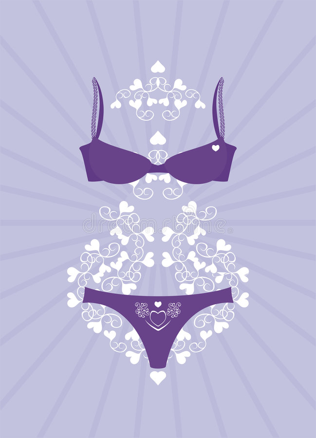 Download Lingerie stock vector. Image of strap, evening, star, fashion - 8286045