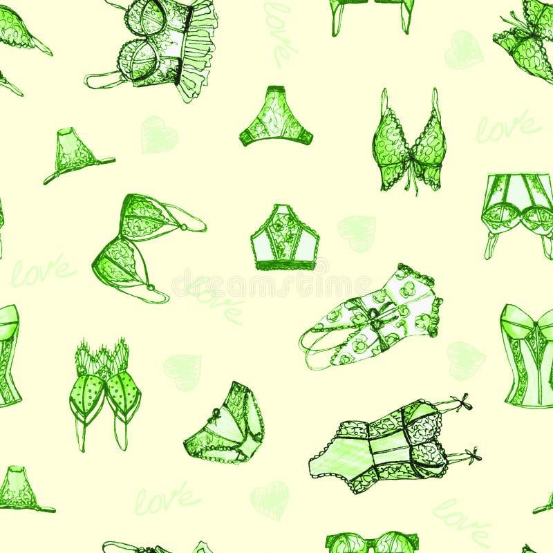 Lingerie seamless pattern. vector illustration