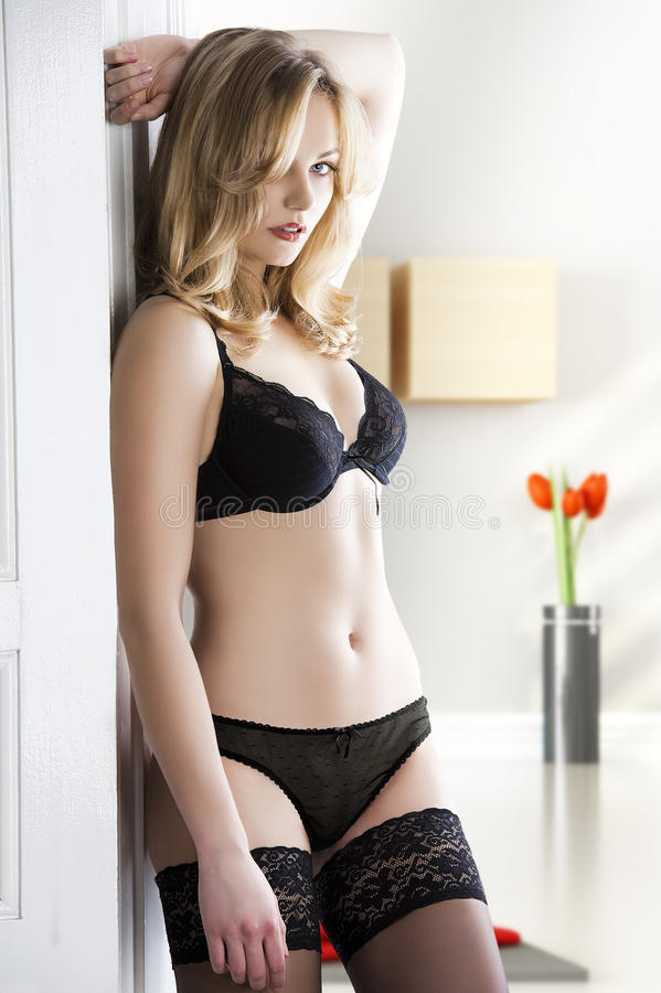 Download Lingerie Sensual Blond Woman, Stock Photos - Image: 23463503