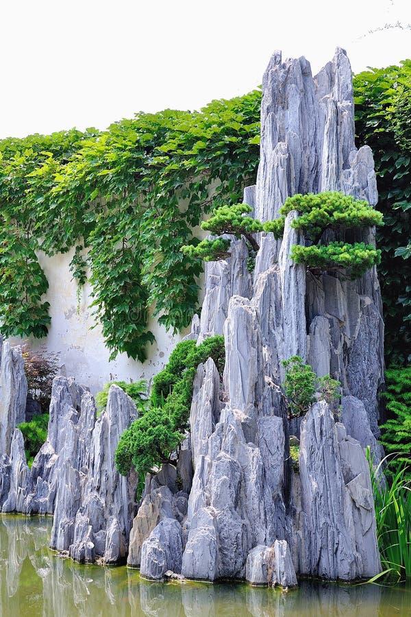 Lingering Garden bonsai stock images