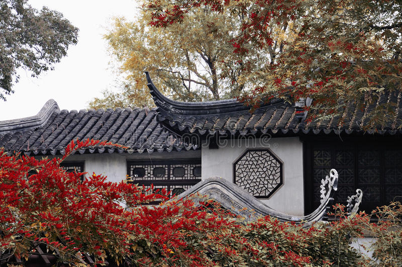 Lingering garden in suzhou royalty free stock image