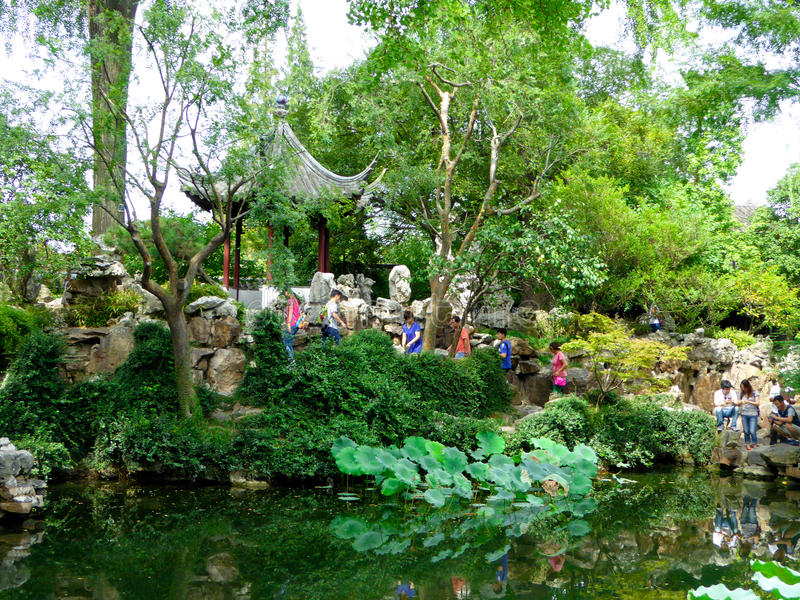 Lingering Garden view royalty free stock image