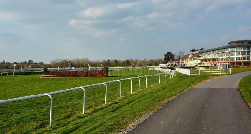 Lingfield parka Racecourse kurort Trybuna & hotel obraz royalty free