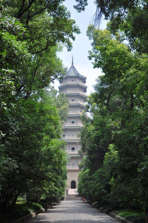 Linggu Pagoda, Nanjing, China royalty free stock photos