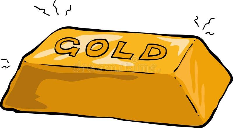 Lingot d'or illustration de vecteur