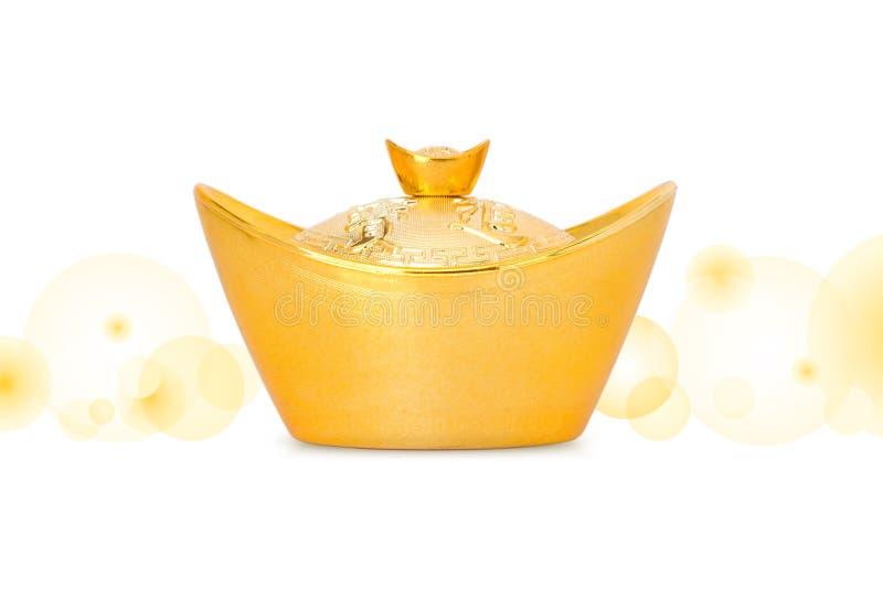 Lingote chinês do ouro imagens de stock