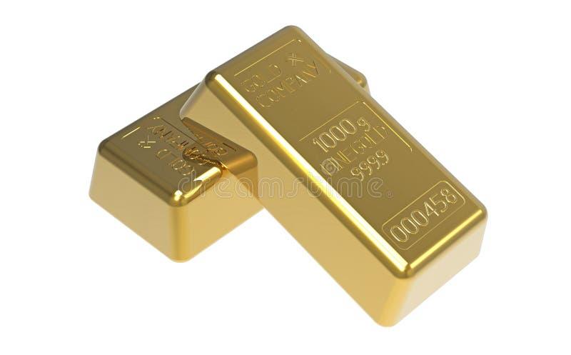 Lingote de ouro ilustração stock