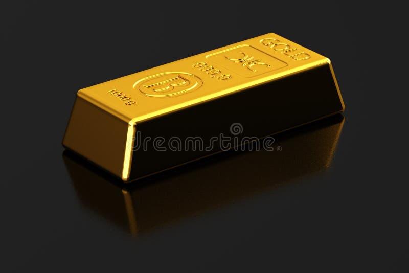 Lingote de ouro ilustração royalty free