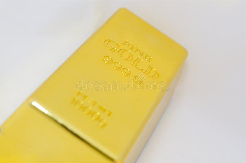 Lingote del oro Bar imagen de archivo