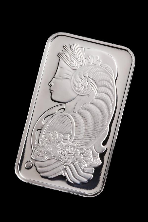 Lingote del platino imagen de archivo libre de regalías