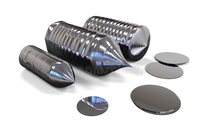 Lingote del silicio stock de ilustración
