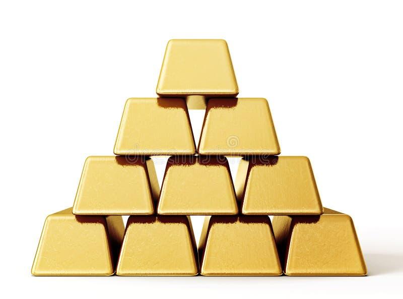 Lingote do ouro Bar ilustração do vetor