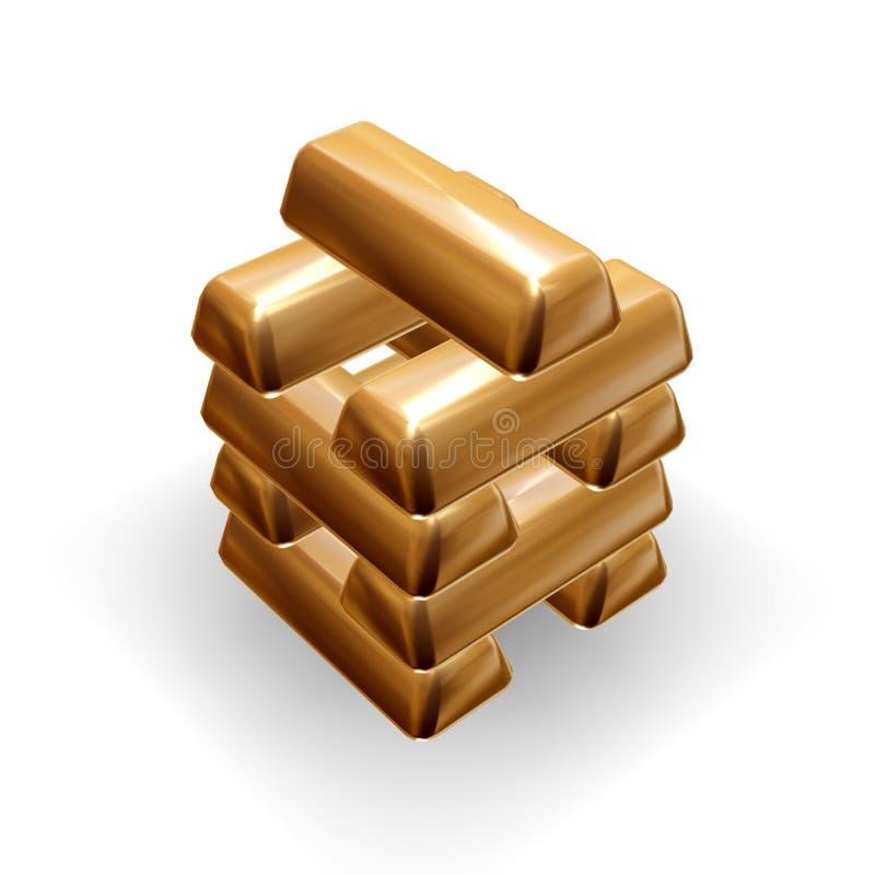 Lingotes de ouro ilustração royalty free