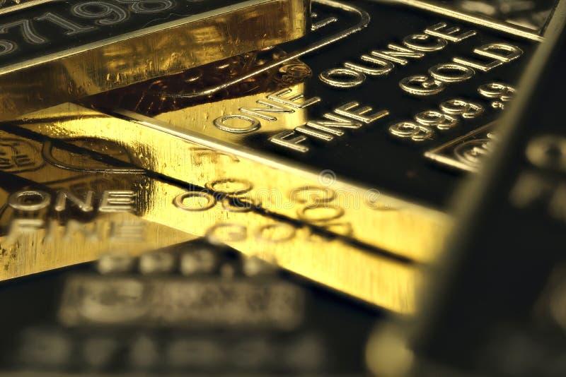 Lingotes do ouro imagem de stock royalty free