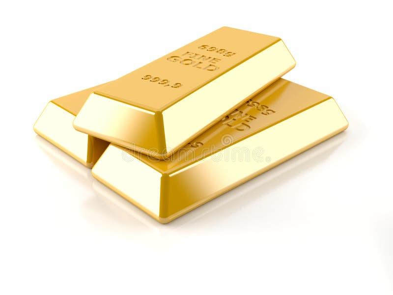 Lingotes do ouro ilustração do vetor