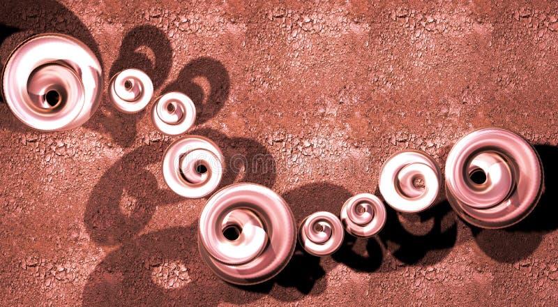 Lingotes rojos de la joyería libre illustration
