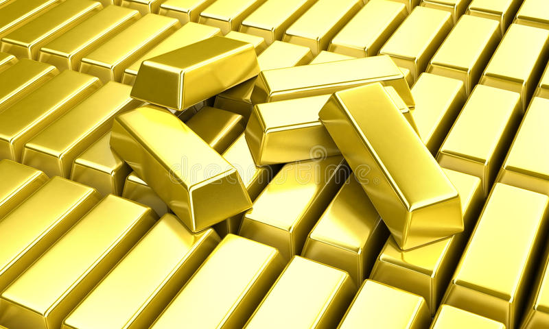 Lingotti dell'oro immagini stock libere da diritti