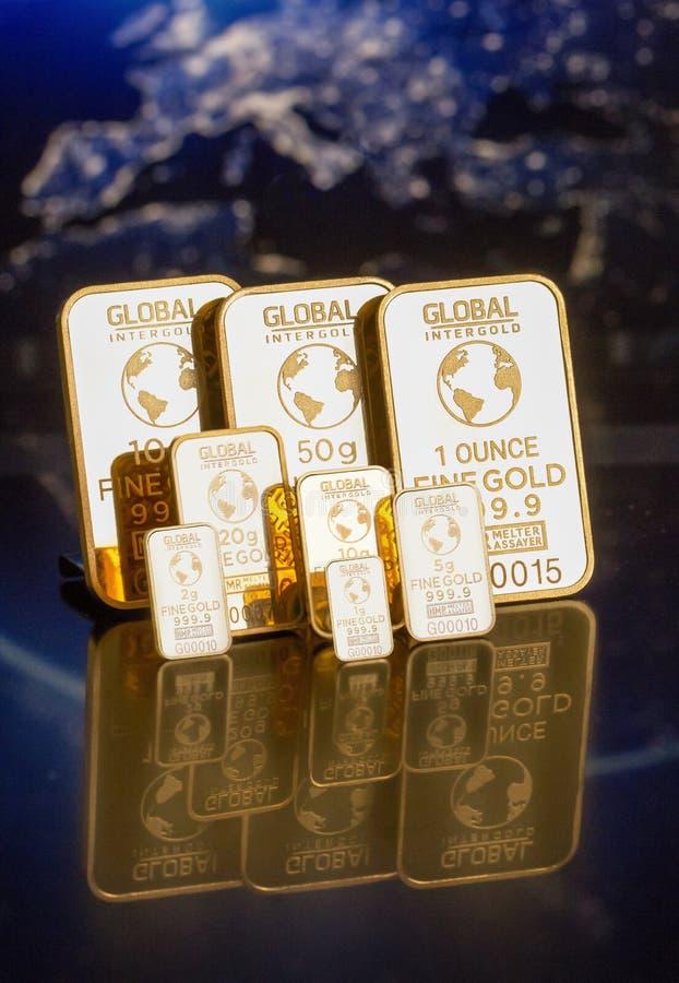 Lingotti dell'oro fotografia stock libera da diritti