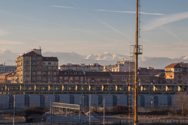 Lingotto district. Turin. Italy. royalty free stock images