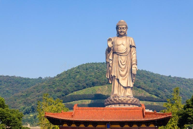 Lingshan грандиозный Будда стоковое изображение rf