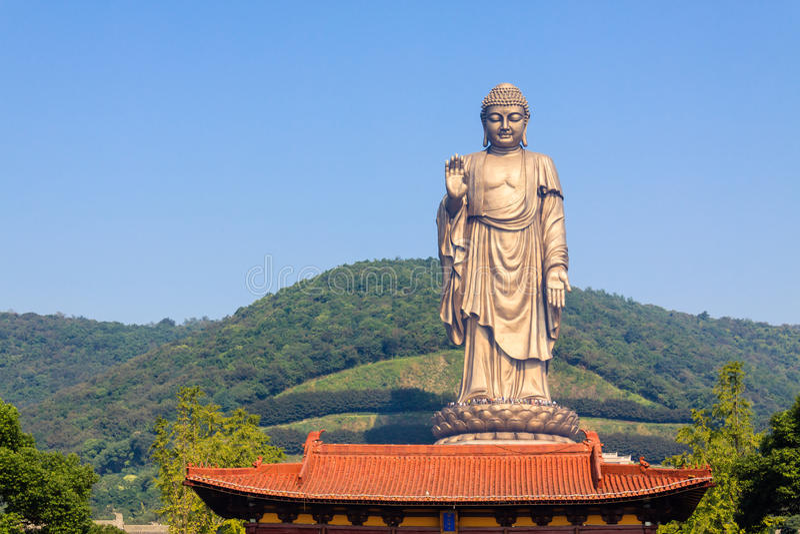 Lingshan Bouddha grand image libre de droits