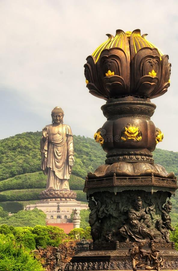 Lingshan Buddha Uroczysty Sceniczny teren Wuxi zdjęcia royalty free