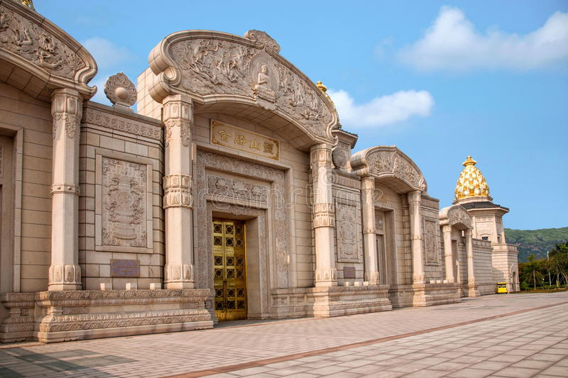 Lingshan Vatican Palace in Lingshan Mountain royalty free stock photo