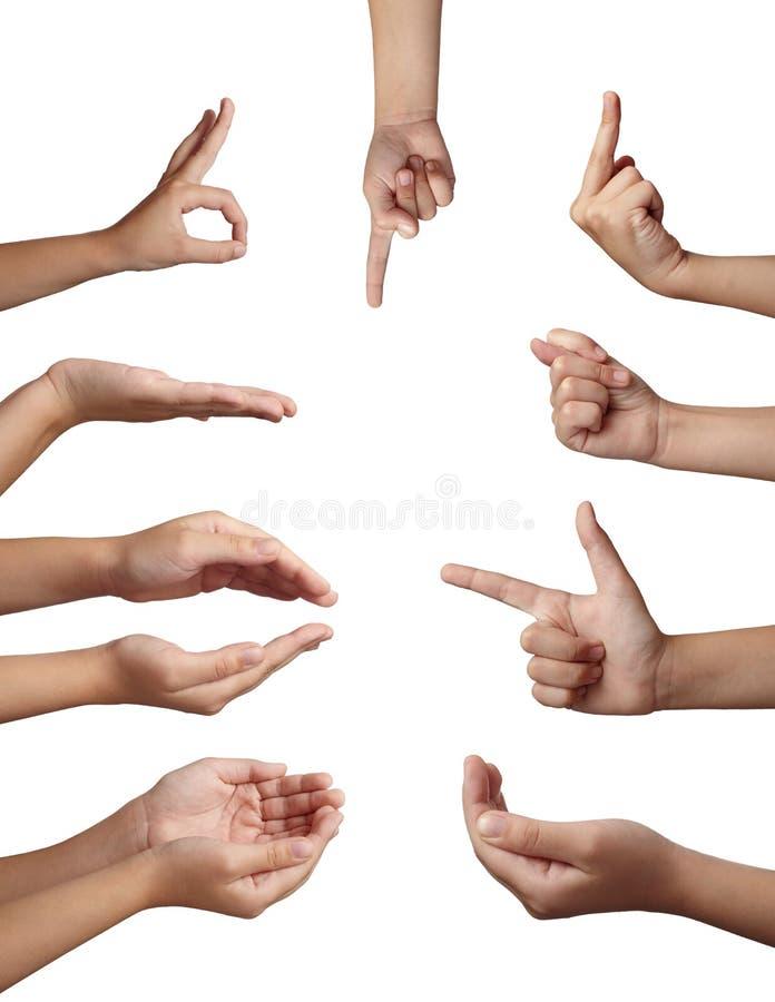 Linguaggio del corpo di gesto di mano immagine stock libera da diritti