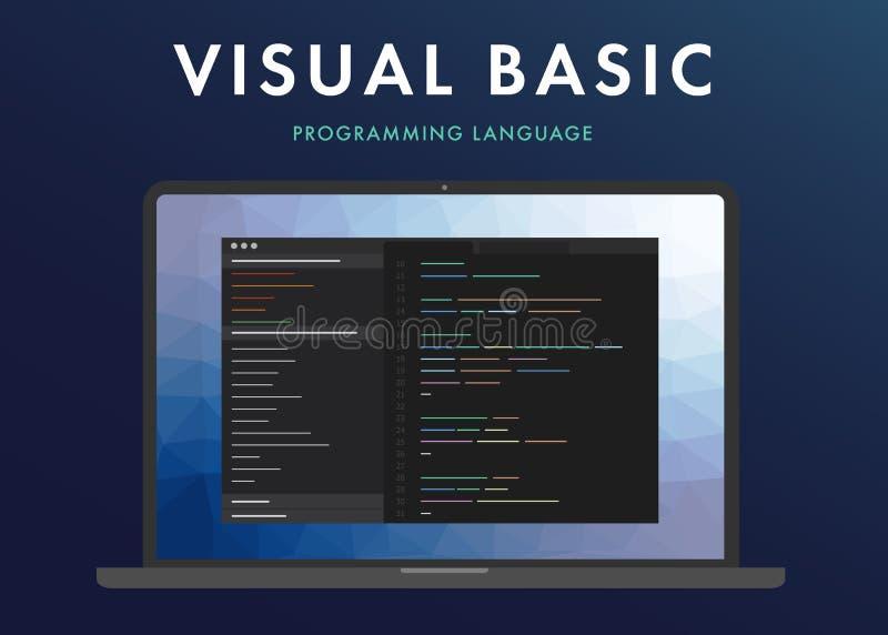 Linguaggio di programmazione di Visual Basic illustrazione vettoriale