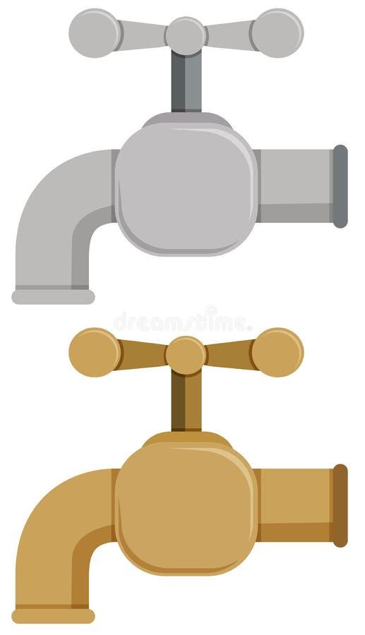 Linguetta in argento ed oro royalty illustrazione gratis