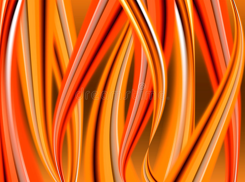 Linguette astratte della fiamma illustrazione vettoriale