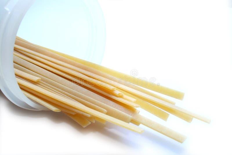 Linguine de las pastas, espagueti 2 fotografía de archivo libre de regalías