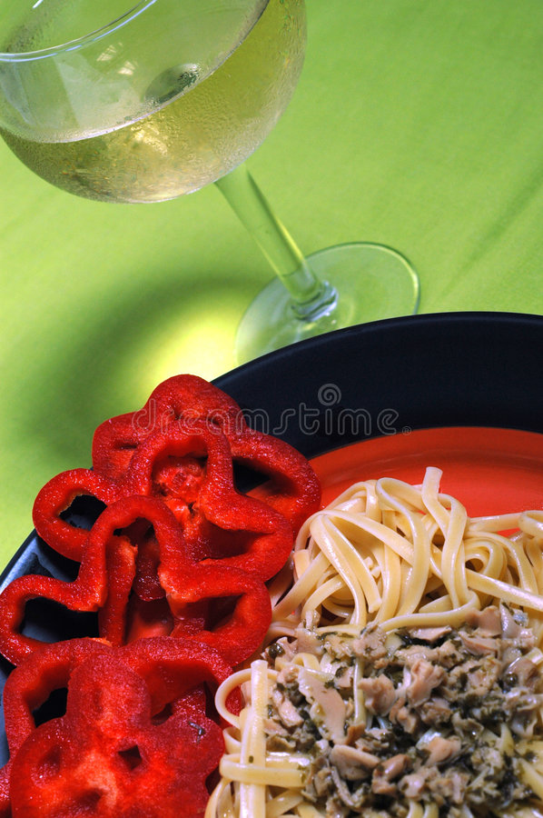 Linguine de palourdes photos stock