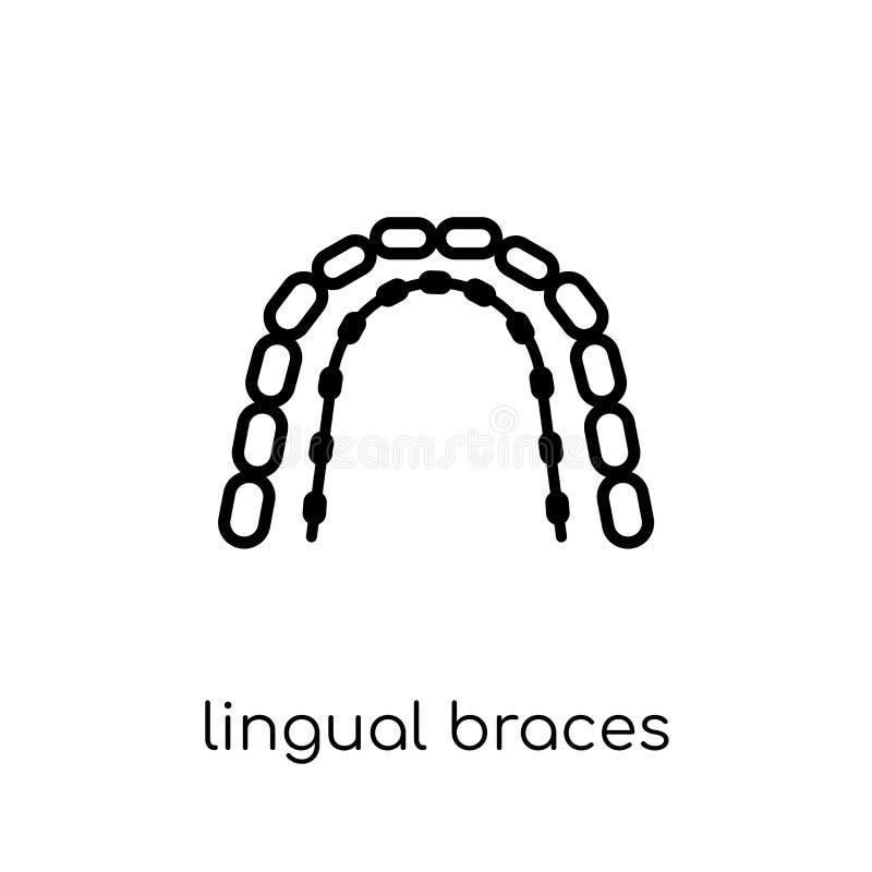 Lingval hänglsensymbol  royaltyfri illustrationer