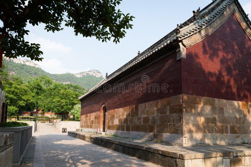 Lingyan Tenple, ο παλαιός ναός από το Tang στοκ φωτογραφία με δικαίωμα ελεύθερης χρήσης