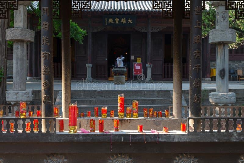 Lingyan Tenple, ο παλαιός ναός από το Tang στοκ εικόνα