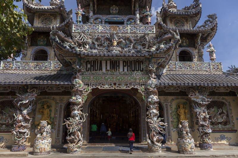 Linh Phuoc Pagoda lizenzfreies stockfoto