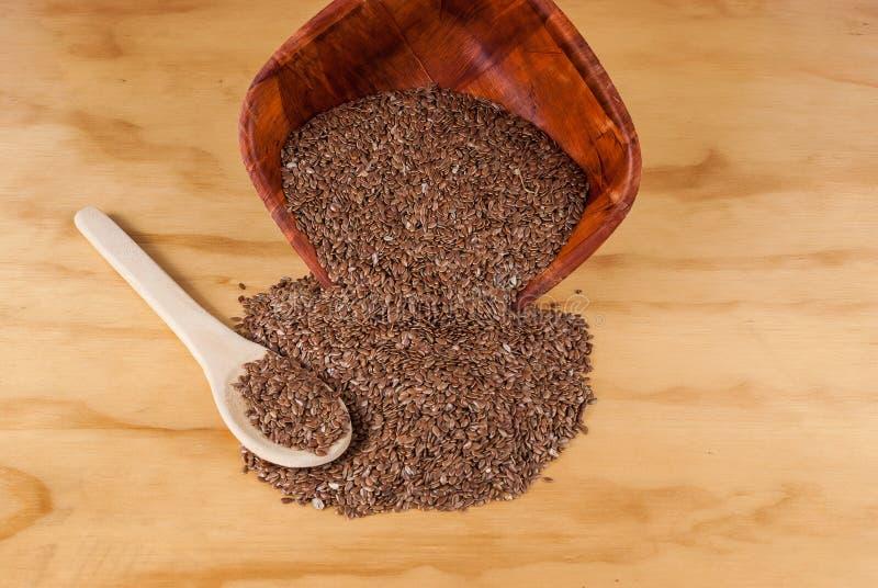 Linhaça das sementes de linho para impedir doenças e controlar o excesso de peso imagem de stock royalty free