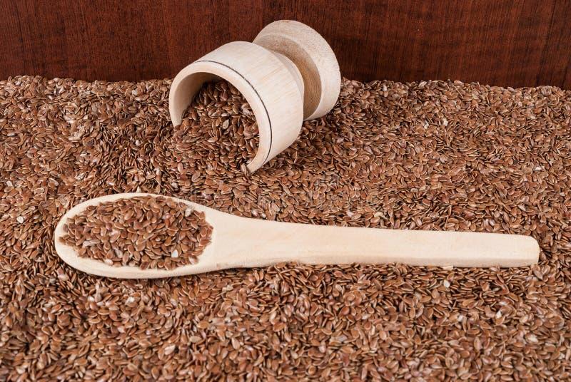 Linhaça das sementes de linho para impedir doenças e controlar o excesso de peso foto de stock royalty free