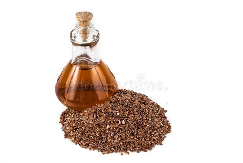 Linhaça das sementes de linho para impedir doenças e controlar o excesso de peso fotografia de stock