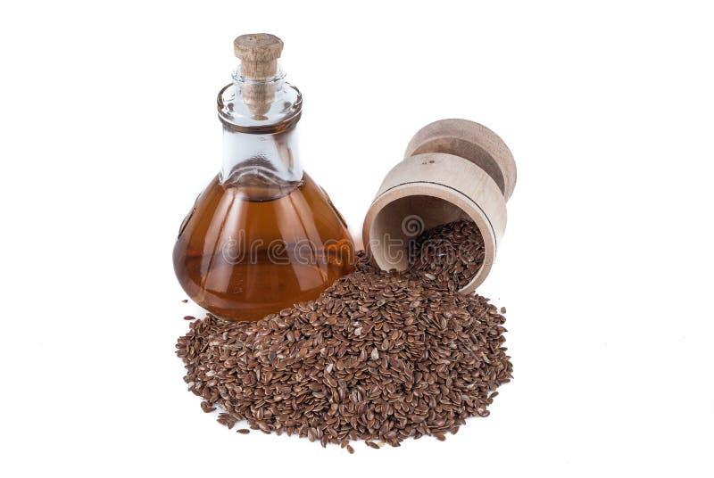 Linhaça das sementes de linho para impedir doenças e controlar o excesso de peso fotografia de stock royalty free