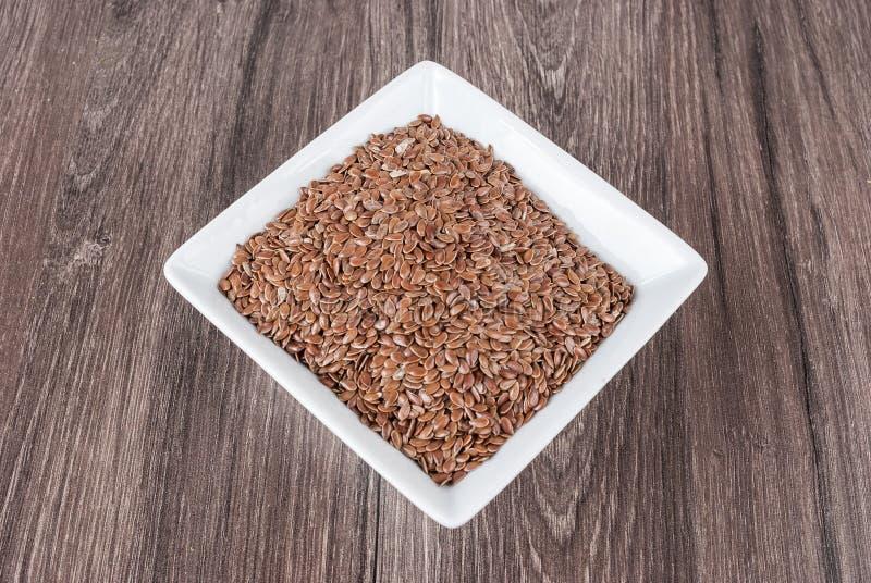 Linhaça das sementes de linho para impedir doenças e controlar o excesso de peso fotos de stock